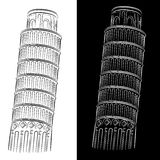 Leaning Tower of Pisa Drawing Royalty Free Stock Photo