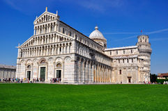 Leaning Tower of Pisa and Duomo , Italy. Leaning Tower of Pisa and Duomo, in Pisa, Italy Stock Image