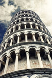 Leaning Tower of Pisa. The Leaning Tower of Pisa (Italian: Torre pendente di Pisa) or simply the Tower of Pisa (Torre di Pisa) is the campanile, or freestanding Royalty Free Stock Image