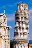 Leaning tower of Pisa Italy. On a sunny day Royalty Free Stock Images