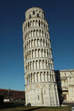 The leaning tower of Pisa - Italy. The famous leaning tower of Pisa - Italy - no people, no tourist, no works in progress in the picture stock photo