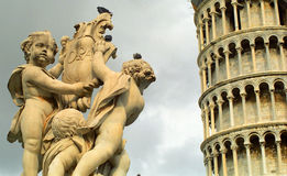 The Leaning Tower, Pisa, Italy. The Leaning Tower in Pisa, Italy Royalty Free Stock Images
