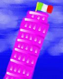 Leaning Tower Of Pisa Italy Abstract Oil Painting Stock Photos