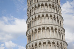 Leaning Tower of Pisa, Italy. Against Blue Cloudy Sky Royalty Free Stock Images