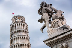 The leaning tower of Pisa, Italy. The amazing architecture of the leaning tower in Pisa, Italy Royalty Free Stock Photos