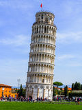 The Leaning Tower of Pisa, Italy. With the background of the clear blue sky Stock Photography