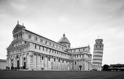 Leaning Tower of Pisa, Italy. And the Cathedral Royalty Free Stock Images