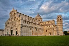 Leaning tower Pisa, Italy. Cathedral and leaning tower of Pisa, Italy Stock Images