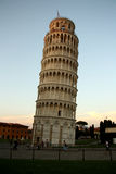 The leaning Tower of Pisa (Italy) at dusk / twilig Royalty Free Stock Image