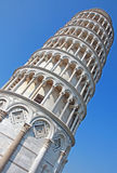Leaning tower of Pisa in Italy stock photo