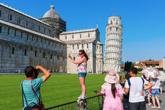 The Leaning Tower in Pisa, Italy Royalty Free Stock Photography