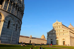 The Leaning Tower of Pisa in Italy Stock Images