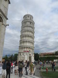 Leaning Tower of Pisa in Italy.  Stock Photo
