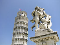 Leaning Tower of Pisa in Italy Stock Images