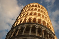 LEANING TOWER OF PISA ITALY. Leaning tower of Pisa in Italy at sunset Royalty Free Stock Photo