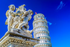 Leaning Tower in Pisa, Italy. View at european landmark Leaning Tower in Pisa, Italy Stock Photo