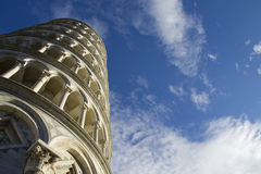 The Leaning Tower of Pisa, Italy - view looking up Royalty Free Stock Photography