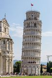 Leaning tower of Pisa. Piazza dei Miracoli., Italy royalty free stock images