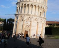 Leaning Tower of Pisa. The tower in Pisa leans indeed Royalty Free Stock Photos
