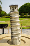 Leaning Tower of Pisa Model close-up Stock Photography