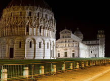 Leaning tower of Pisa by night Royalty Free Stock Photos