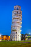 Leaning Tower of Pisa at night Royalty Free Stock Image