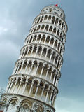 Leaning tower of Pisa over sky Royalty Free Stock Photography