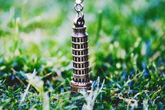 Leaning Tower of Pisa Pendant on Green Grass at Daytime Royalty Free Stock Photo