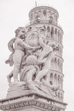 Leaning Tower of Pisa in Piazza dei Miracoli Square, Pisa, Italy Stock Photo