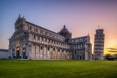 Leaning Tower of Pisa in Pisa - Italy stock photo