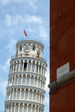 Leaning Tower of Pisa seen from via Roma. Italy. Royalty Free Stock Photo