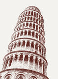 Leaning tower of Pisa on the square of Wonders Royalty Free Stock Photography