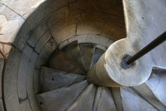Leaning Tower of Pisa Stairs. A view of the spiral marble stairs in the Leaning Tower of Pisa Royalty Free Stock Image