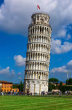The Leaning Tower of Pisa Torre pendente di Pisa in Pisa, Italy. The Leaning Tower of Pisa is one of the main landmark of Italy Stock Photos