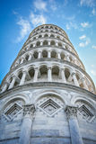 Leaning Tower of Pisa in Tuscany. Leaning Tower of Pisa from below in Tuscany Stock Photography