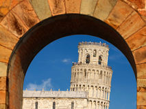 Leaning Tower of Pisa in Tuscany, Italy Royalty Free Stock Photos
