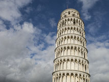Leaning Tower of Pisa in Tuscany, Italy. Leaning Tower of Pisa in Tuscany, a Unesco World Heritage Site and one of the most recognized and famous buildings in Stock Photo