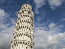 Leaning Tower of Pisa in Tuscany, Italy. Leaning Tower of Pisa in Tuscany, a Unesco World Heritage Site and one of the most recognized and famous buildings in Royalty Free Stock Photography
