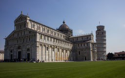 Leaning tower of Pisa. View of the Leaning Tower of Pisa in Italy Royalty Free Stock Photos