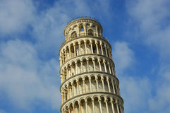 The Leaning Tower of Pisa, a wonderful medieval monument, one of the most famous landmark in Italy Stock Photography