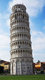 The Leaning Tower of Pisa, a wonderful medieval monument, one of the most famous landmark in Italy Stock Photo
