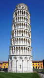 The Leaning Tower of Pisa, a wonderful medieval monument, one of the most famous landmark in Italy Royalty Free Stock Photo