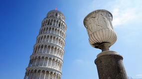 The Leaning Tower of Pisa, a wonderful medieval monument, one of the most famous landmark in Italy Royalty Free Stock Photos