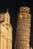 Night Time over the Leaning Tower. royalty free stock images
