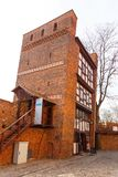 The Leaning Tower of Torun is a medieval tower. Torun, Poland - 05 April, 2014: The Leaning Tower of Torun is a medieval tower. It is one of the most important Stock Photo