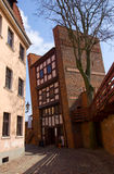 Leaning tower, Torun, Poland Stock Photos