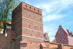 The Leaning Tower in Torun, Poland Royalty Free Stock Photo