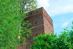 The Leaning Tower in Torun, Poland. Leaning Tower (circa XIV c.) of Torun (former Thorn) town, Poland. One of the most characteristic sites in the Old Town royalty free stock image