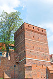 The Leaning Tower in Torun, Poland. Leaning Tower (circa XIV c.) of Torun (former Thorn) town, Poland. One of the most characteristic sites in the Old Town royalty free stock photo