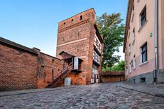 The Leaning Tower in Torun, Poland royalty free stock photos